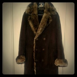 Auth GUCCI reversible shearing coat jacket mink XL